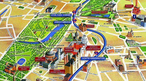 Easy London Map.London S Piccadilly Line Made Easy Graphic Design