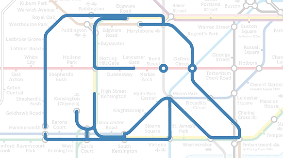 London Underground Map 2011. the London Underground