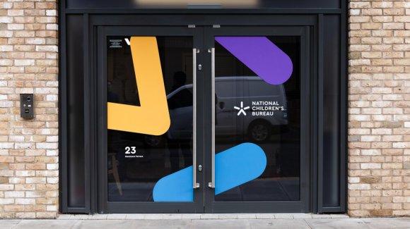 NCB logo design on window